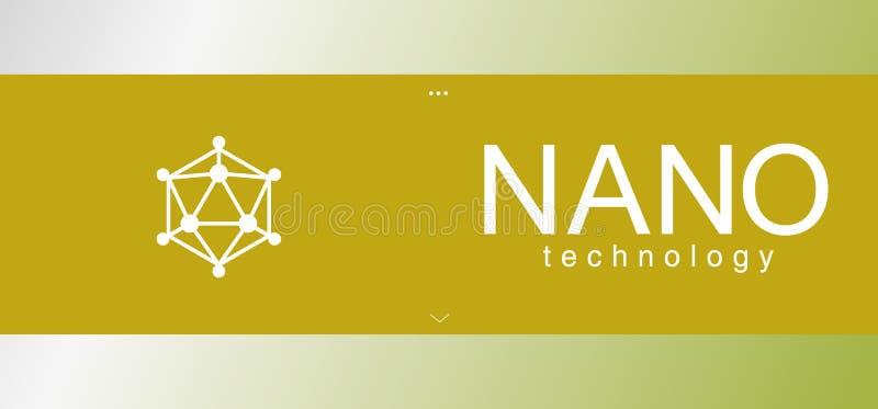 Elemento geométrico, logotipo Nano do tehnology ilustração royalty free