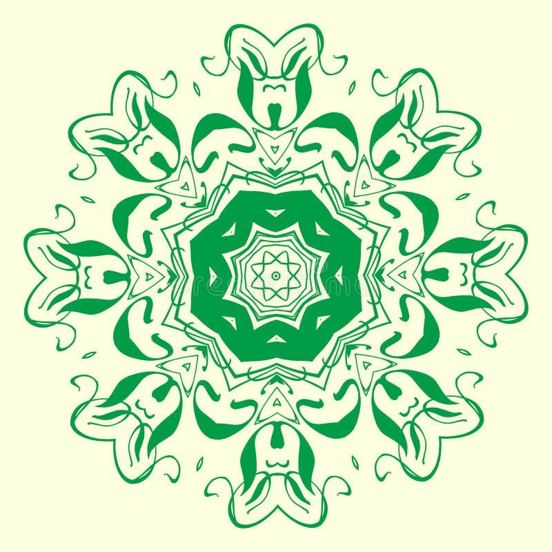 Download Elemento Geometrico Verde Dell'ornamento Illustrazione Vettoriale - Illustrazione di grafico, tessuto: 117978489