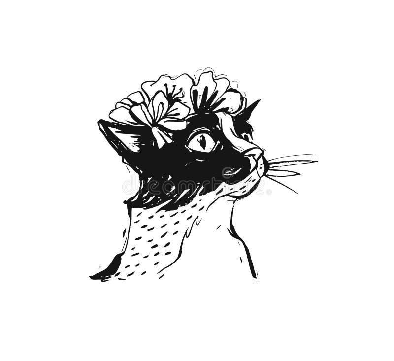 Elemento gráfico a mão livre áspero tirado mão do projeto da cópia do sumário do vetor com ilustração bonito do desenho de escova ilustração royalty free