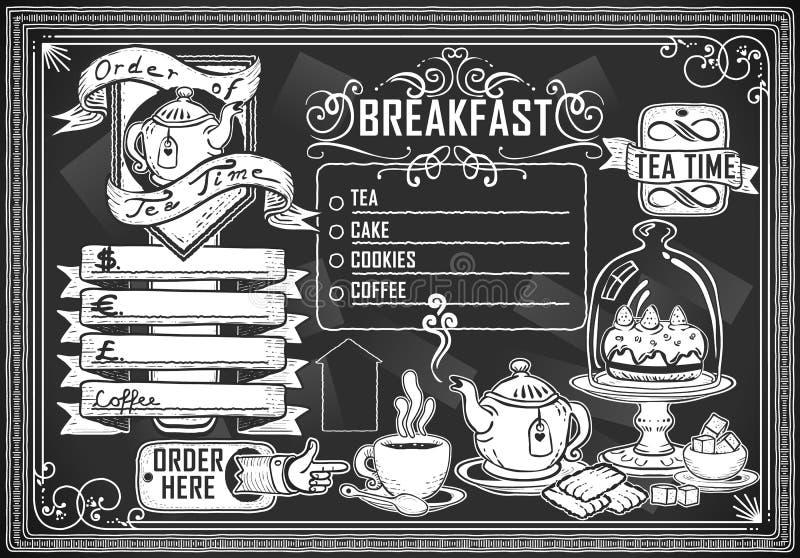Elemento grafico dell'annata per il menu della barra illustrazione vettoriale
