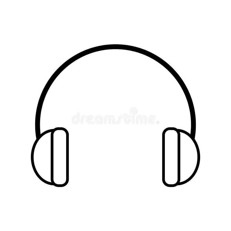Elemento industrial de la protección de oído del esquema stock de ilustración