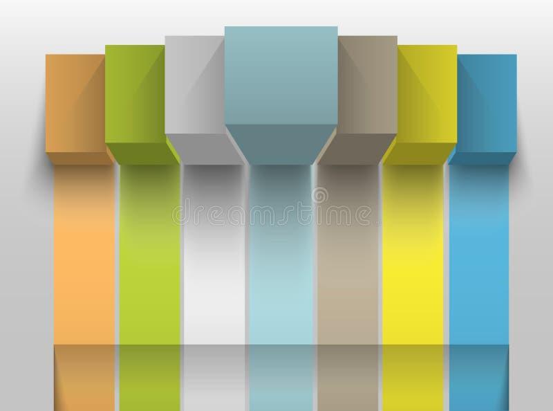 Elemento infographic del diseño del negocio ilustración del vector