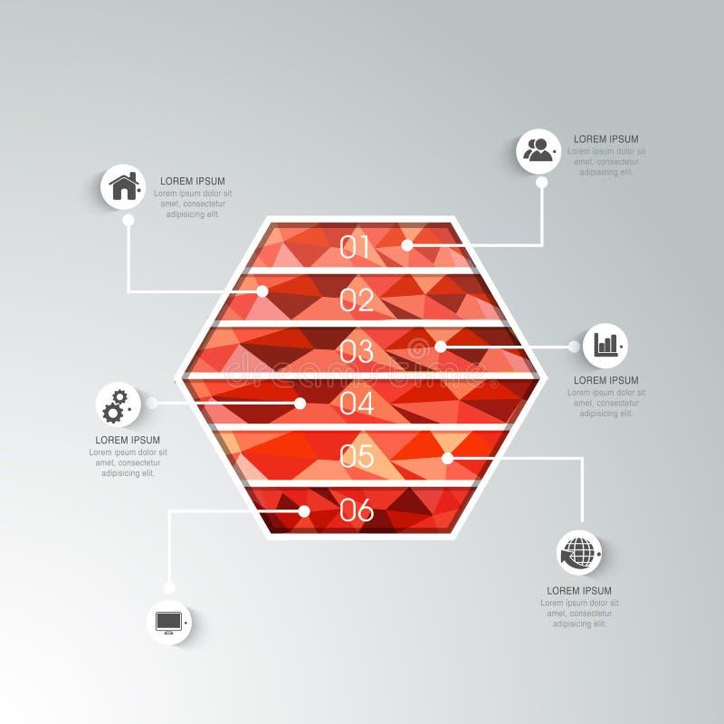 Elemento infographic di affari creativi illustrazione vettoriale