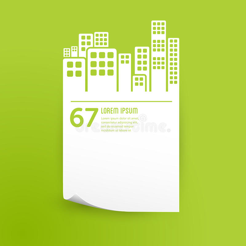 Elemento infographic di progettazione costruzioni/della città illustrazione di stock