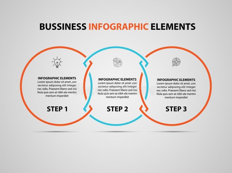 Elemento infographic do negócio Molde do projeto do espaço temporal do infographics do vetor moderno Vetor ilustração stock