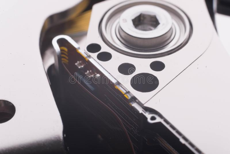 Elemento interno del disco duro para la información de lectura imagen de archivo libre de regalías