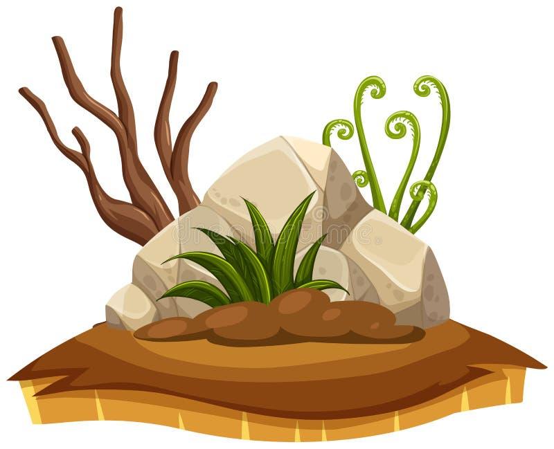 Elemento isolado da terra da seca ilustração do vetor