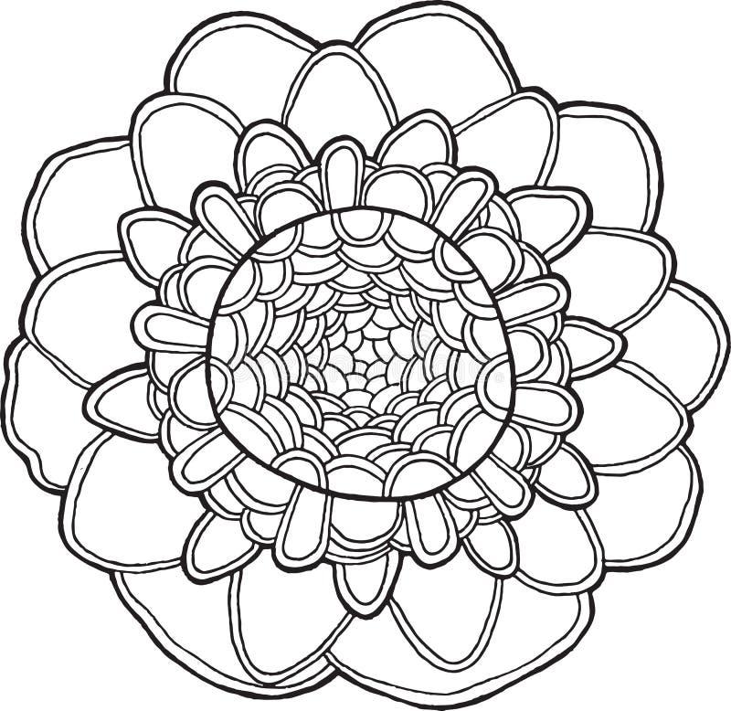Elemento isolato vettore esotico della mandala del fiore royalty illustrazione gratis