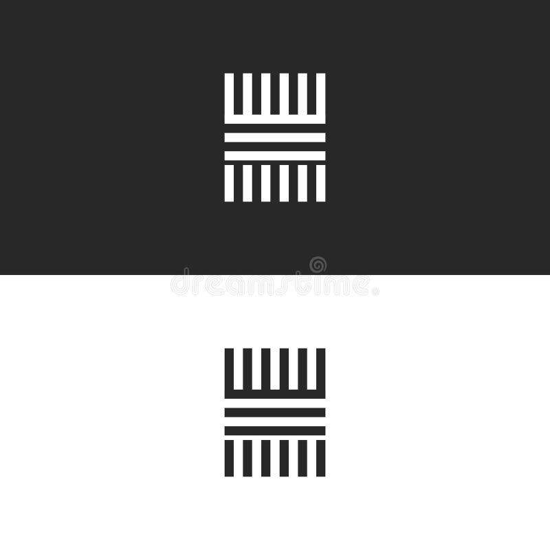 Elemento linear del diseño del logotipo de la letra del monograma H, plantilla elegante del vector del elemento del diseño del in libre illustration