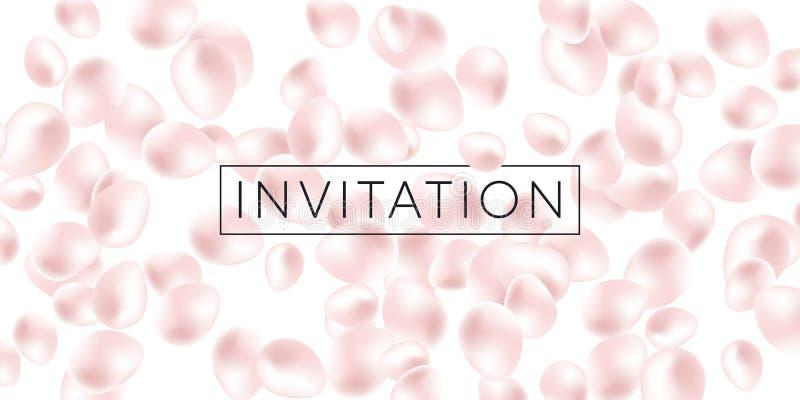 Elemento liquido astratto nel colore delicato della perla royalty illustrazione gratis