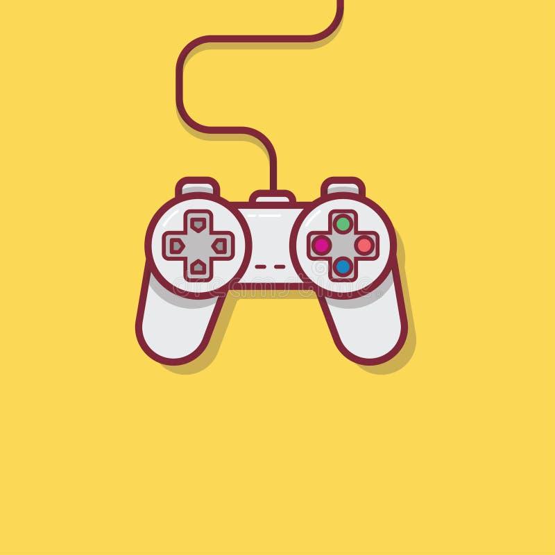 Elemento liso da ilustração do ícone do controlador do jogo foto de stock