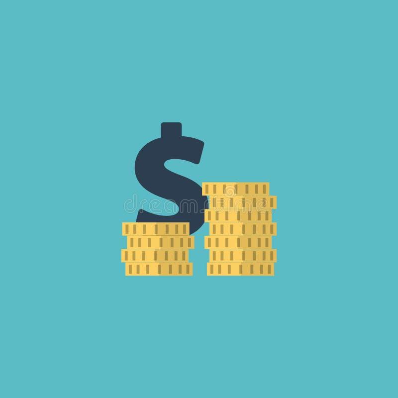 Elemento liso das despesas do ícone A ilustração do vetor do ícone liso inventa a pilha isolada no fundo limpo Pode ser usado com ilustração stock