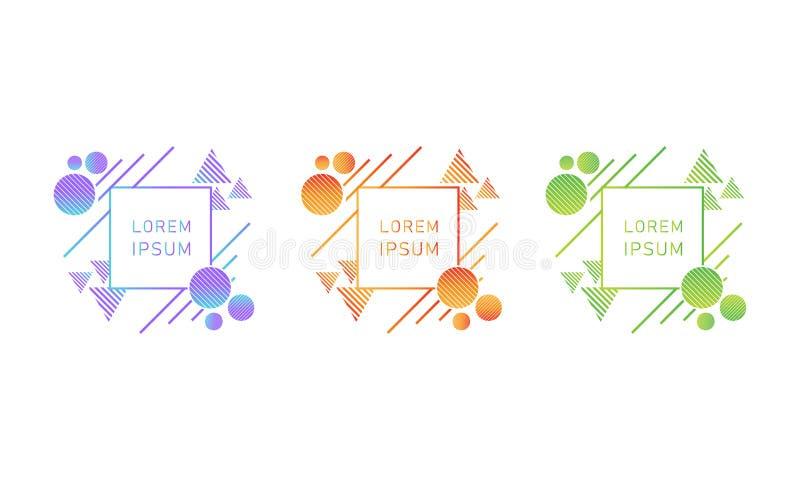 Elemento luminoso creativo di progettazione di stile di pendenza immagine stock libera da diritti