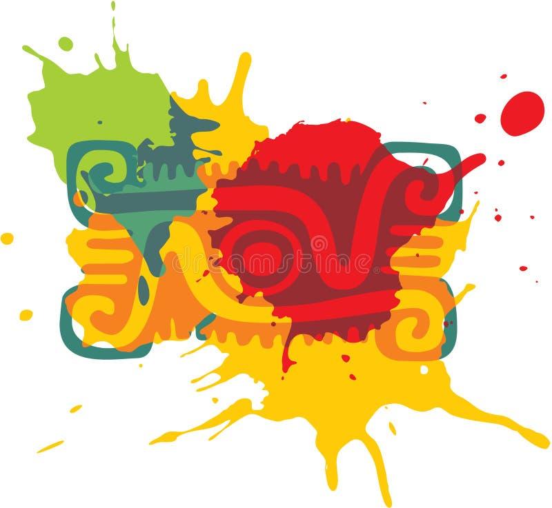 Elemento messicano di disegno di stile illustrazione di stock