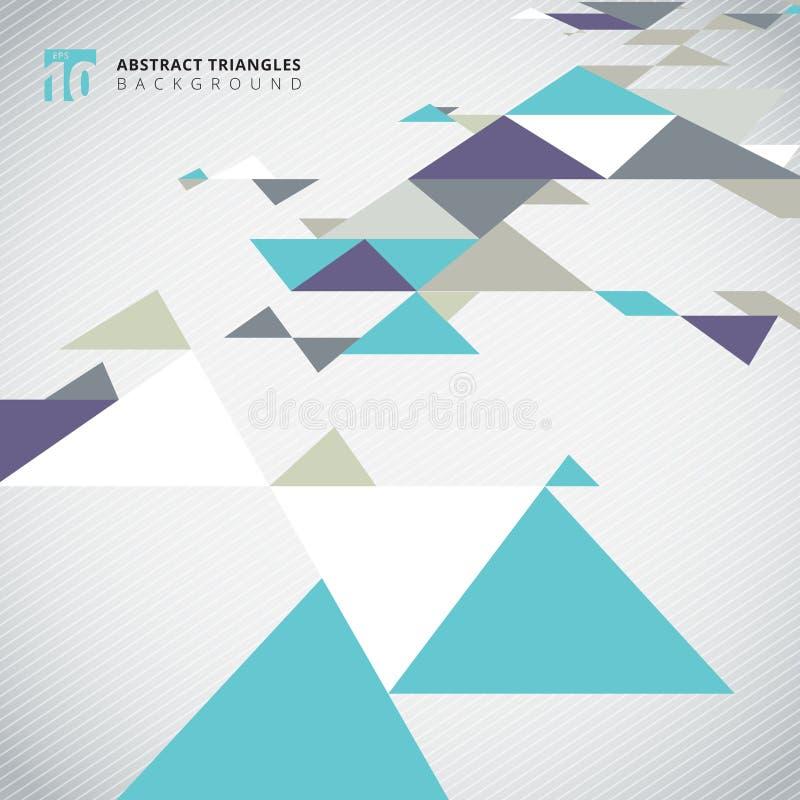Elemento moderno del modello dei triangoli di colore freddo di prospettiva astratta royalty illustrazione gratis