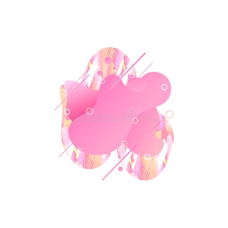 Elemento moderno do projeto gráfico do sumário do vetor isolado no fundo branco, 2019 Coral Color vivas na moda ilustração stock