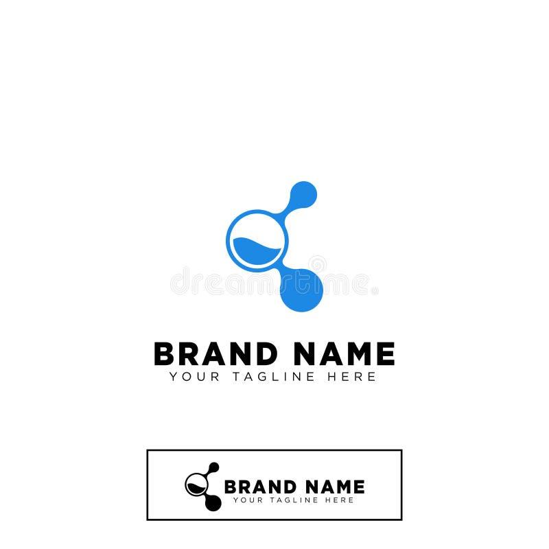 elemento molecolare dell'icona dell'illustrazione di vettore del modello di progettazione di logo illustrazione di stock