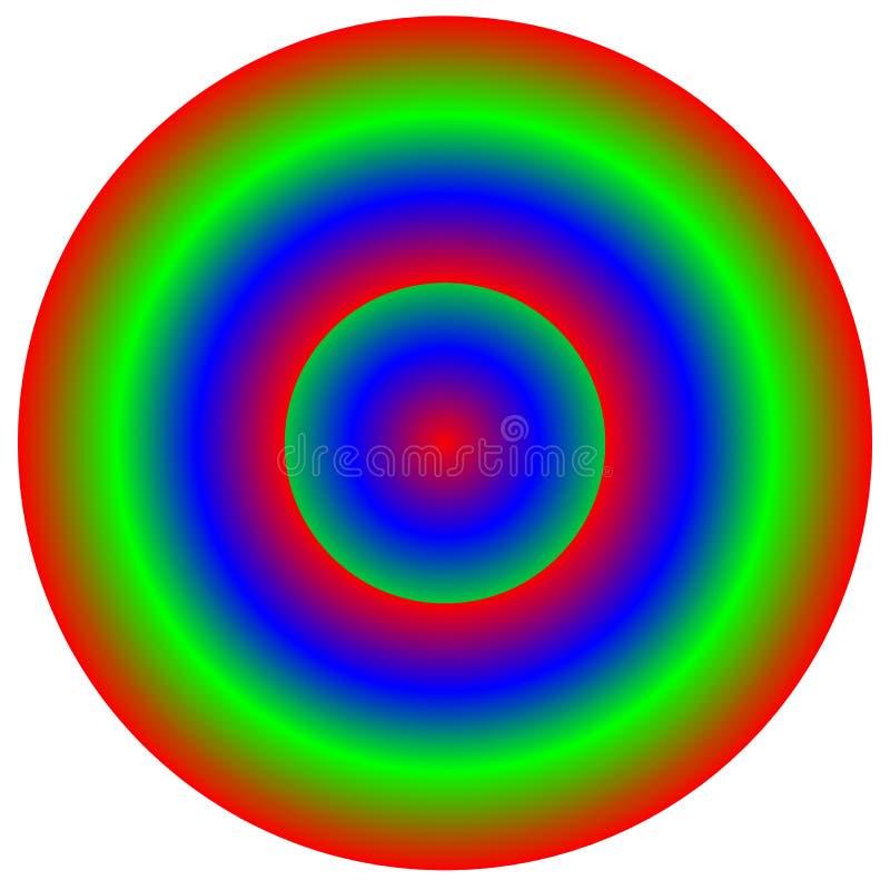 Elemento multicolorido circular - roda de cor, paleta de cores com un ilustração royalty free