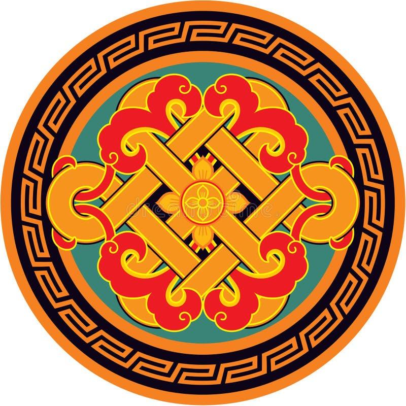 Elemento oriental do projeto do chinês ilustração do vetor
