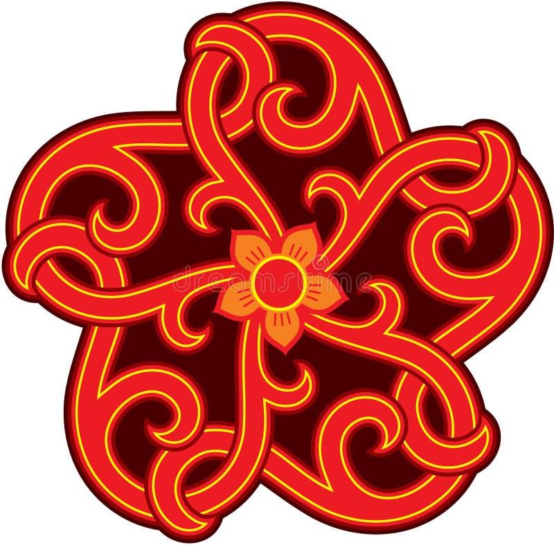 Elemento orientale di disegno royalty illustrazione gratis