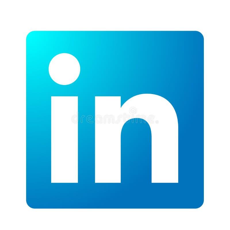 Elemento original do vetor do logotipo do ?cone do logotipo dos meios sociais de LinkedIn no fundo branco ilustração do vetor
