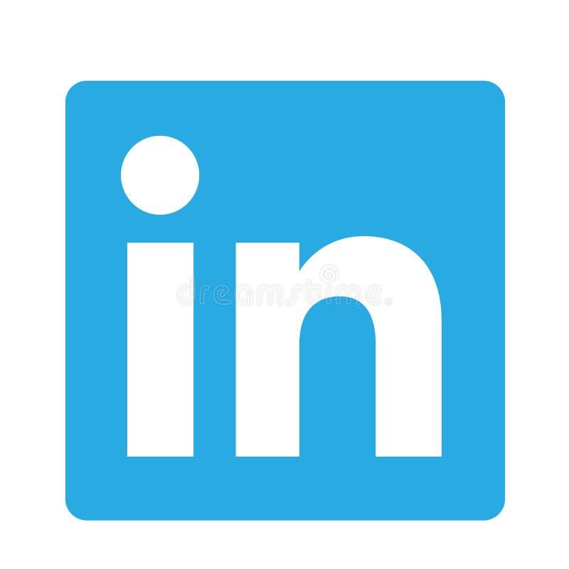 Elemento originale di vettore di logo dell'icona di logo di media sociali di LinkedIn su fondo bianco illustrazione vettoriale
