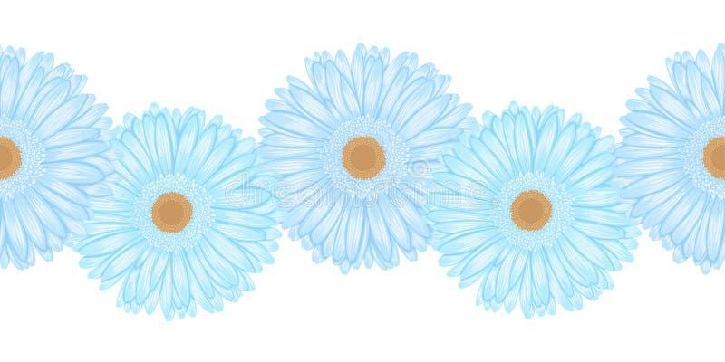 Elemento orizzontale senza cuciture della struttura del fiore della gerbera illustrazione vettoriale