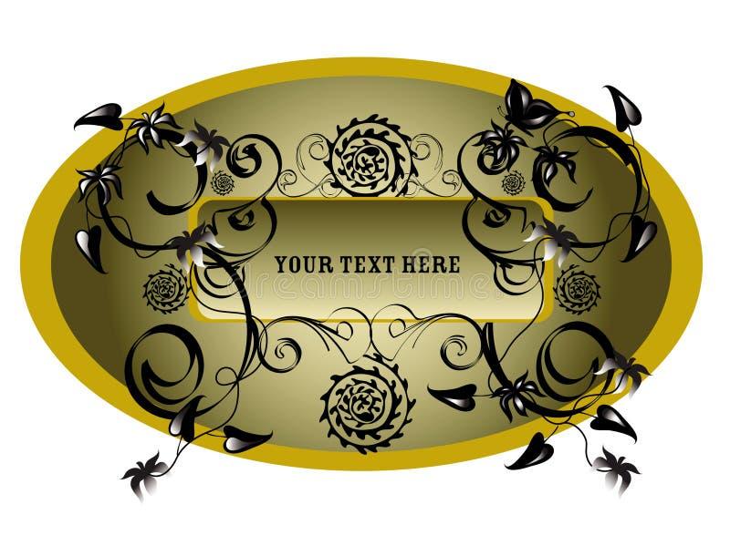 Elemento oval del diseño floral stock de ilustración