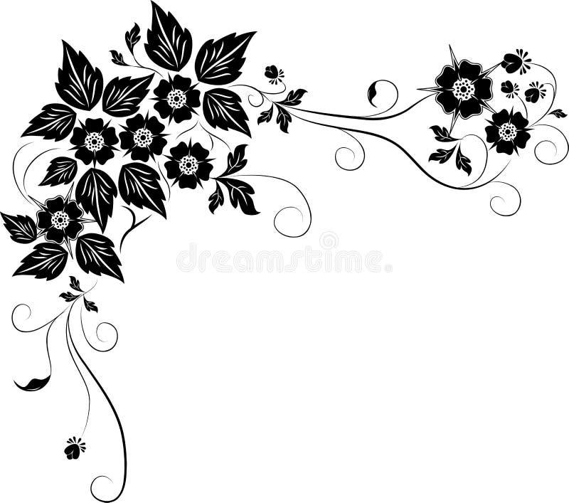 Elemento para o projeto, flor, vetor ilustração stock