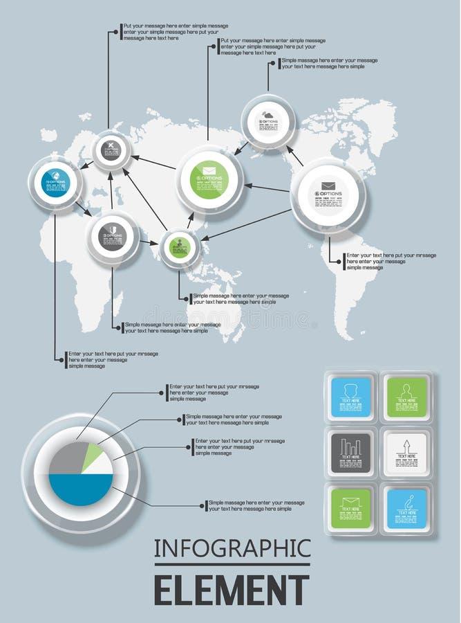 Elemento per la figura geometrica vetro del modello infographic del grafico royalty illustrazione gratis