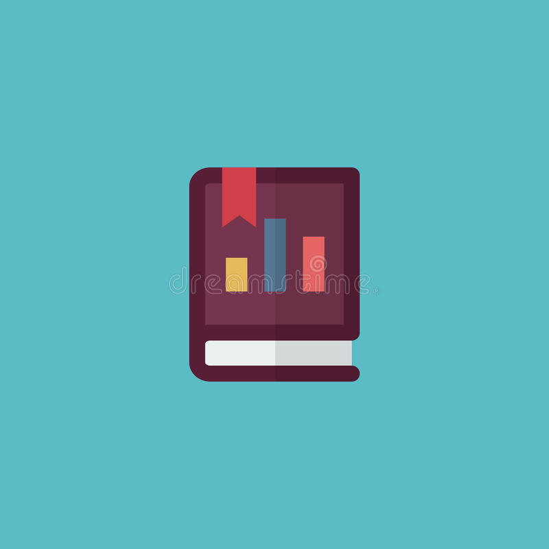 Elemento piano del rapporto annuale dell'icona Illustrazione di vettore del libro piano dell'icona isolato su fondo pulito Può es illustrazione vettoriale