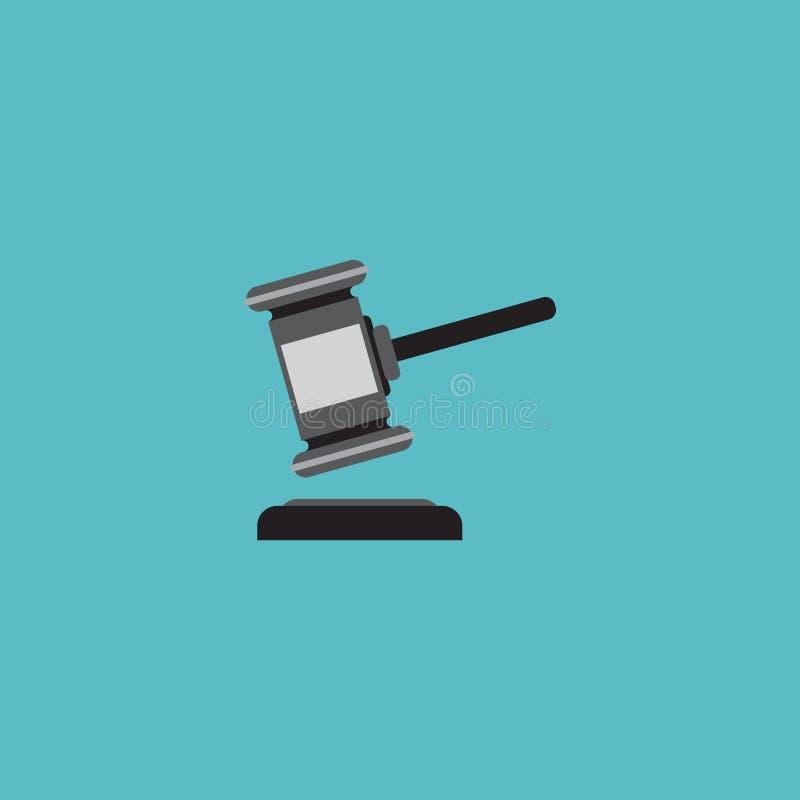 Elemento piano dell'asta dell'icona Illustrazione di vettore del verdetto piano dell'icona isolata su fondo pulito Può essere usa illustrazione vettoriale