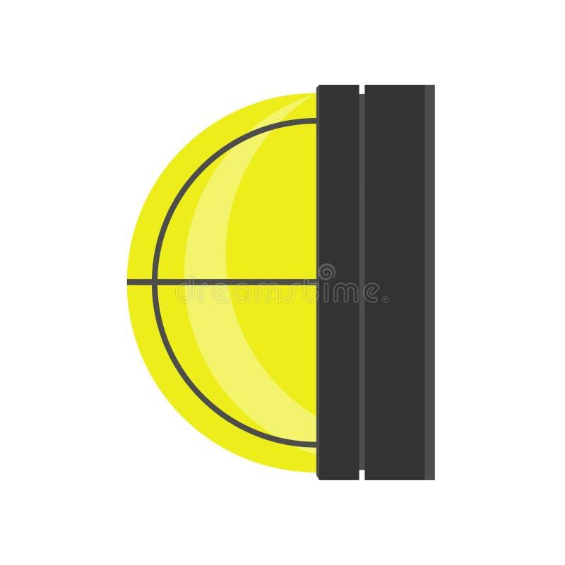 Elemento piano della via della lampada da parete del segno elettrico all'aperto dell'oggetto Icona di illuminazione della posta d illustrazione vettoriale