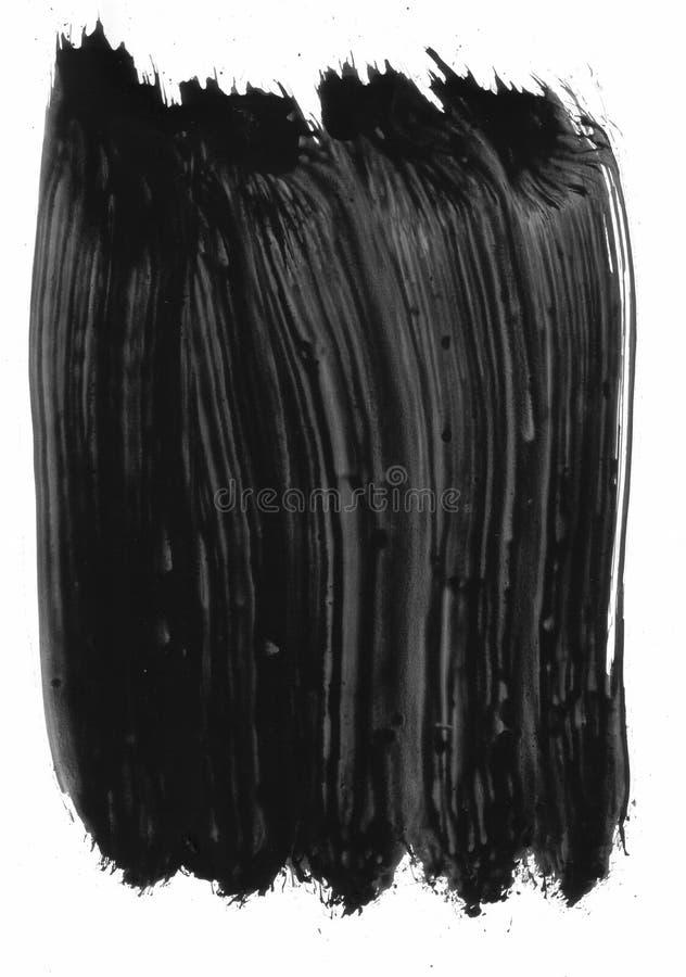 Elemento pintado preto imagem de stock
