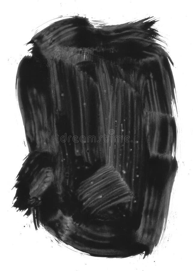 Elemento pintado preto imagens de stock