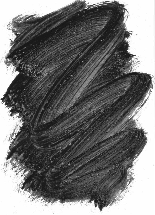 Elemento pintado preto imagem de stock royalty free