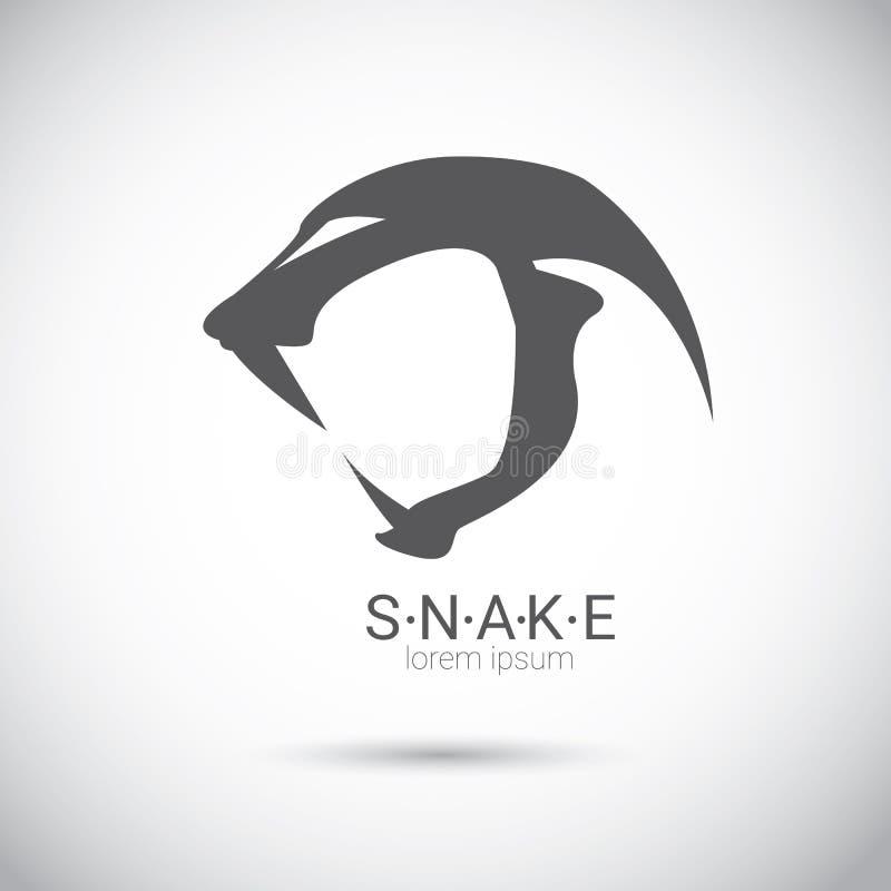 Elemento preto simples do projeto do logotipo da serpente do vetor ilustração do vetor
