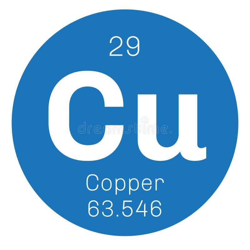 Elemento químico de cobre ilustração royalty free