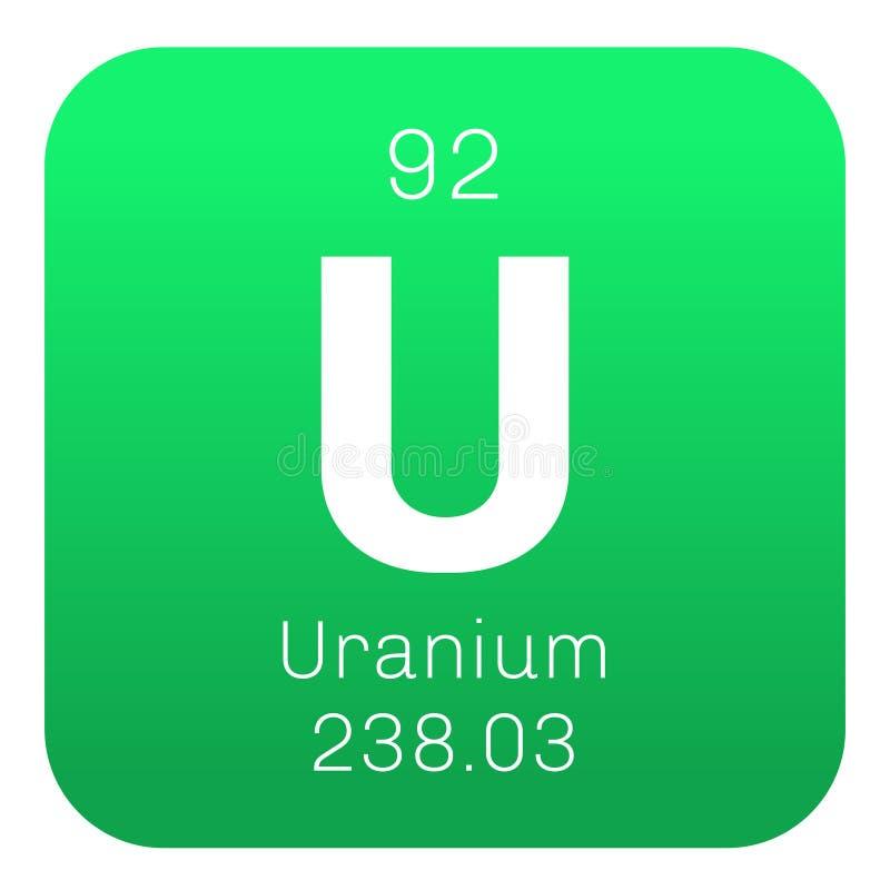 Elemento químico de uranio stock de ilustración