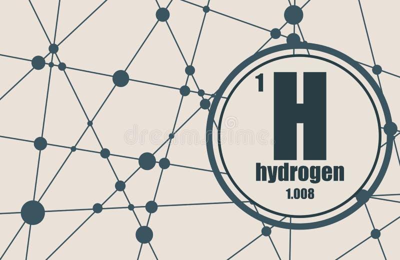 Elemento químico del hidrógeno stock de ilustración