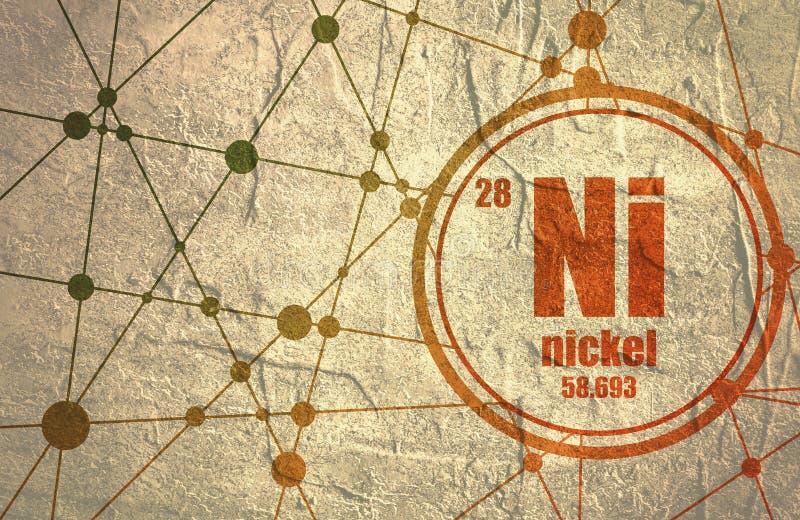 Elemento químico del níquel stock de ilustración