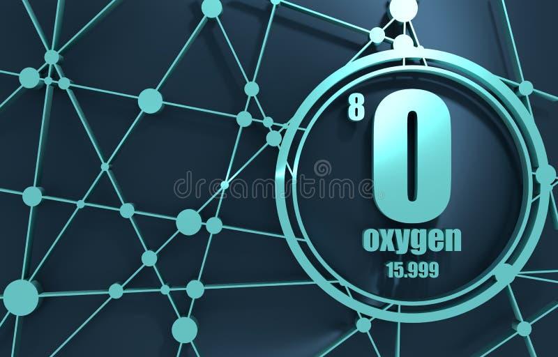 Elemento químico del oxígeno stock de ilustración