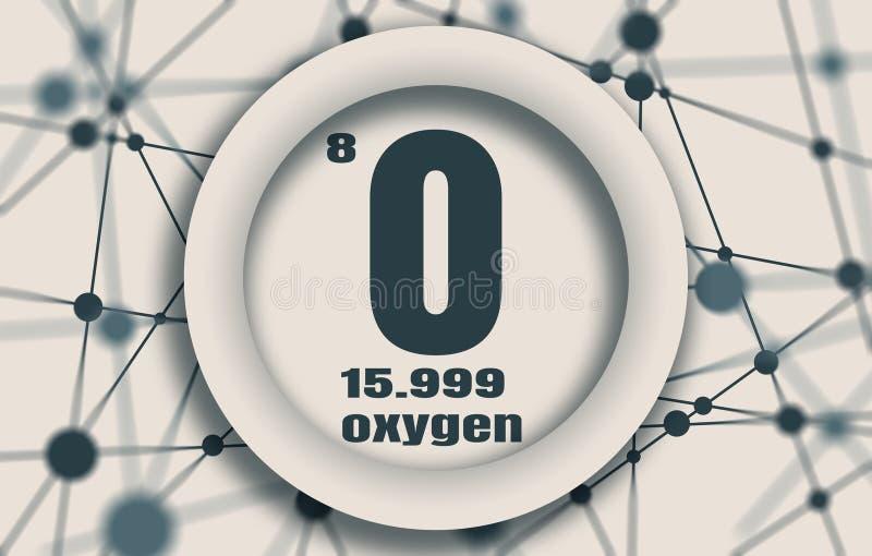 Elemento químico do oxigênio ilustração royalty free