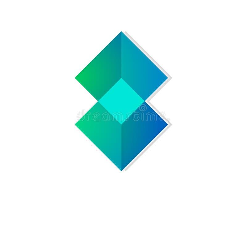 Elemento quadrato del modello di progettazione di logo illustrazione vettoriale