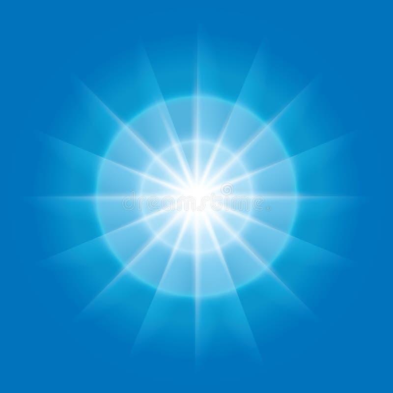 Elemento radiale con i raggi su priorità bassa blu royalty illustrazione gratis