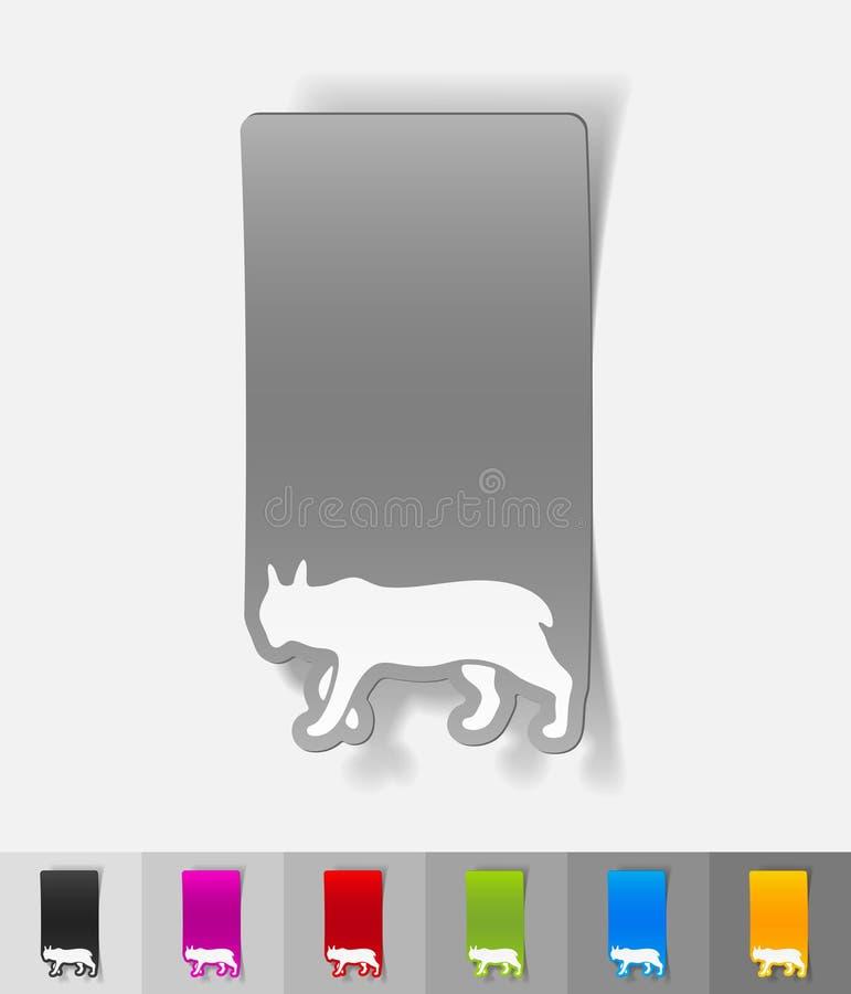 Elemento realístico do projeto lynx ilustração stock
