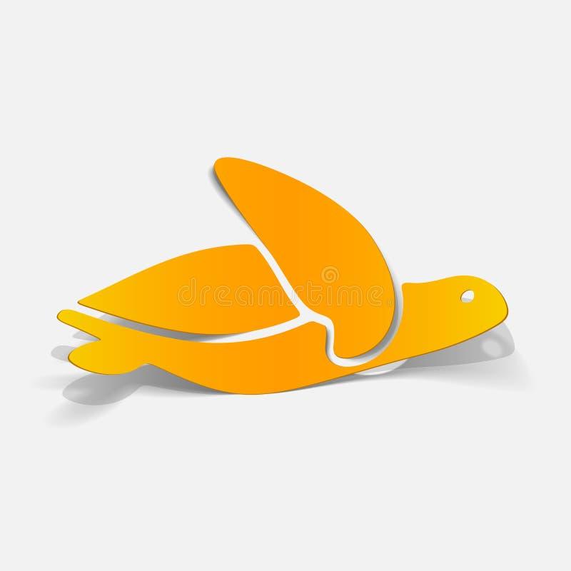 Elemento realístico do projeto: mar?? tartaruga ilustração royalty free