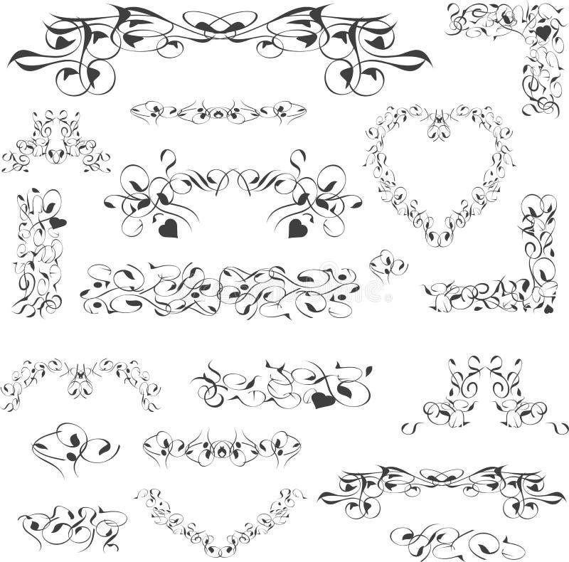 Elemento reale di disegno dell'annata del fiore isolato royalty illustrazione gratis