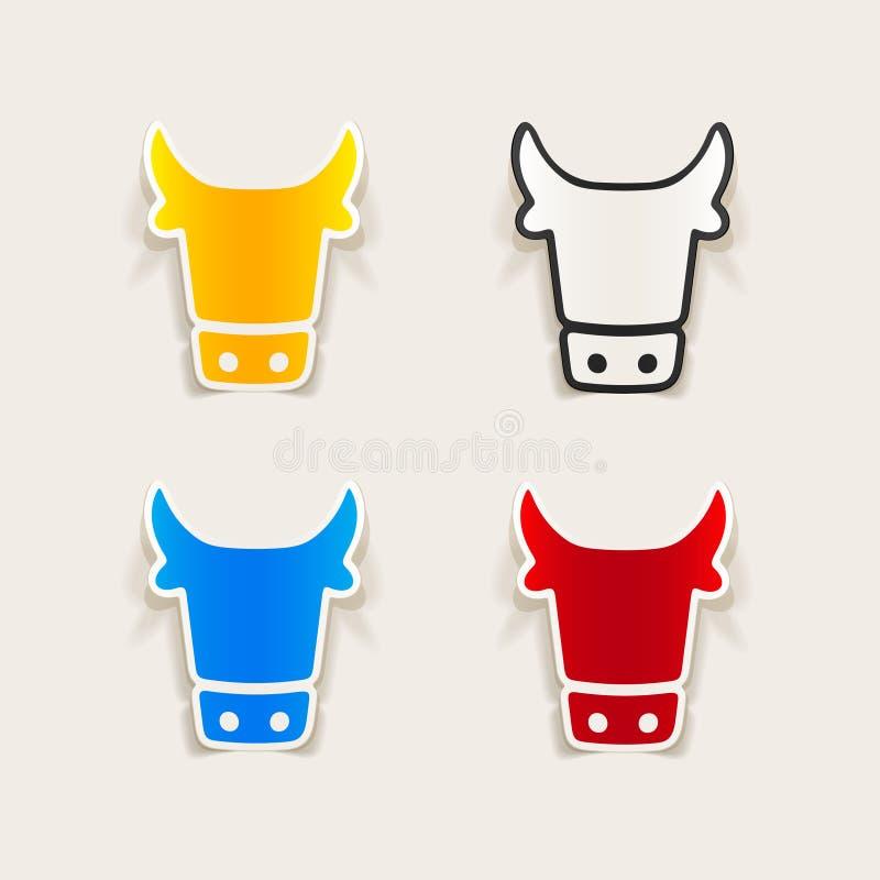 Elemento realista del diseño: vaca ilustración del vector