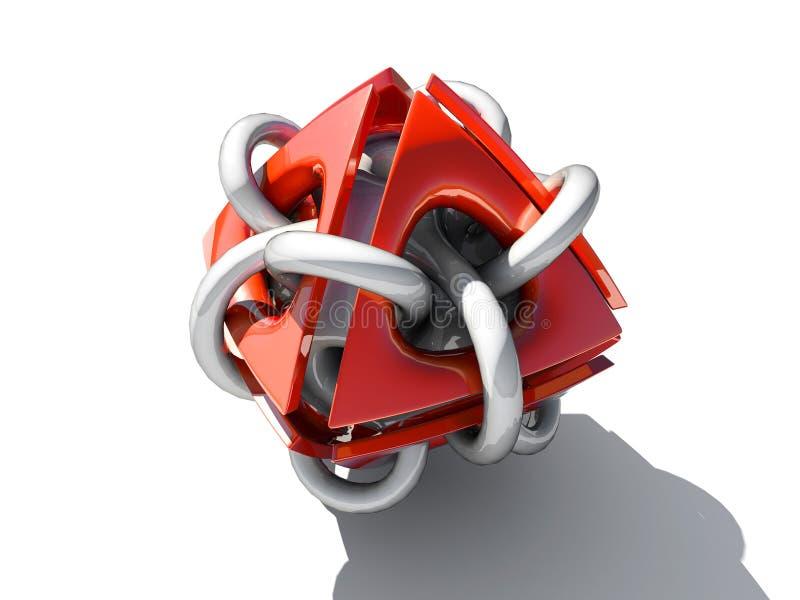 Elemento rojo de la tecnología libre illustration